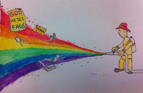 austin knaplund fireman rainbow hose