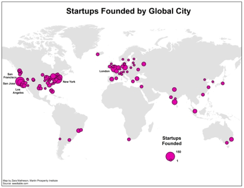 startups global cities