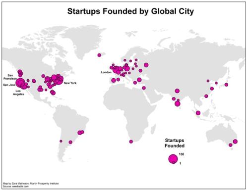 startups global cities