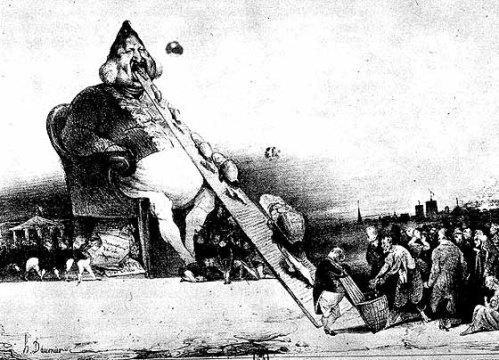 Daumier's Gargantua (1831)