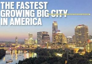 austin fastest growing city
